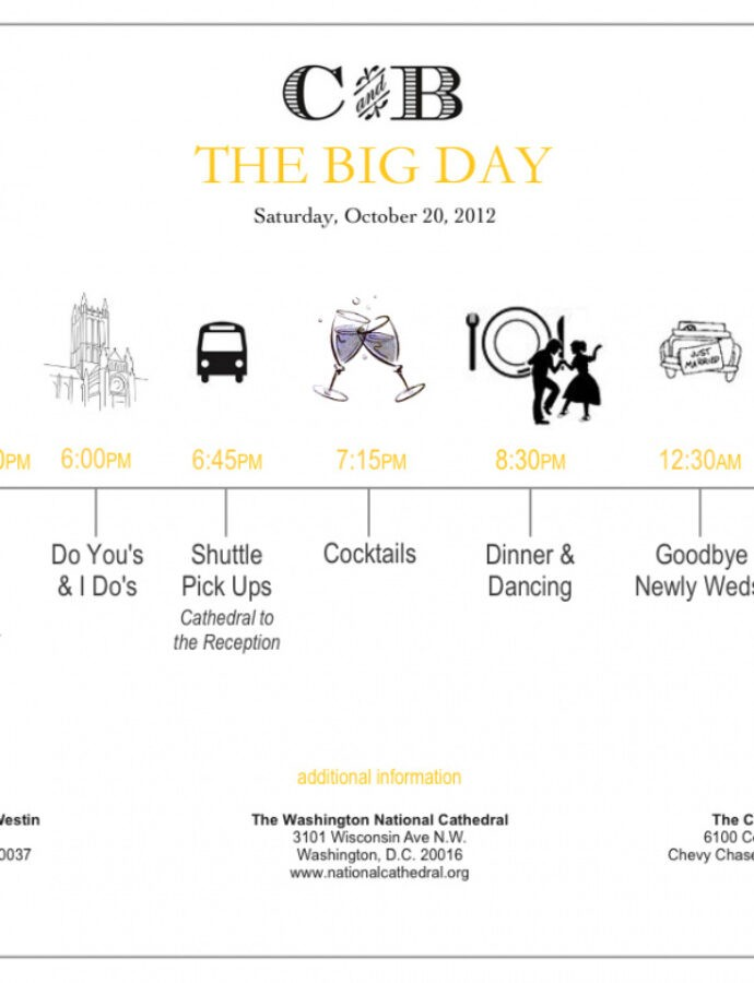 Wedding Timeline Template For Guests Word Sample